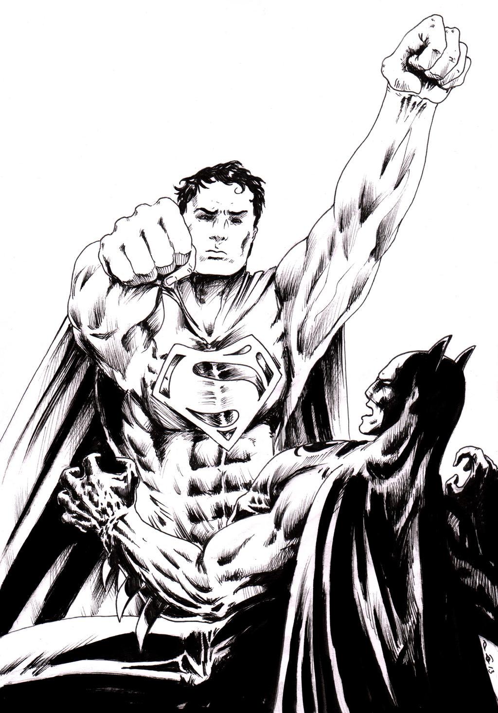 DND Paris : Batman Vs Superman by emalterre