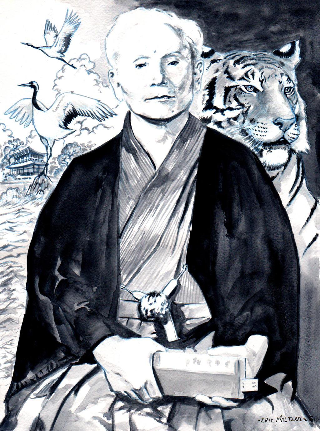 Gichin Funakoshi by emalterre