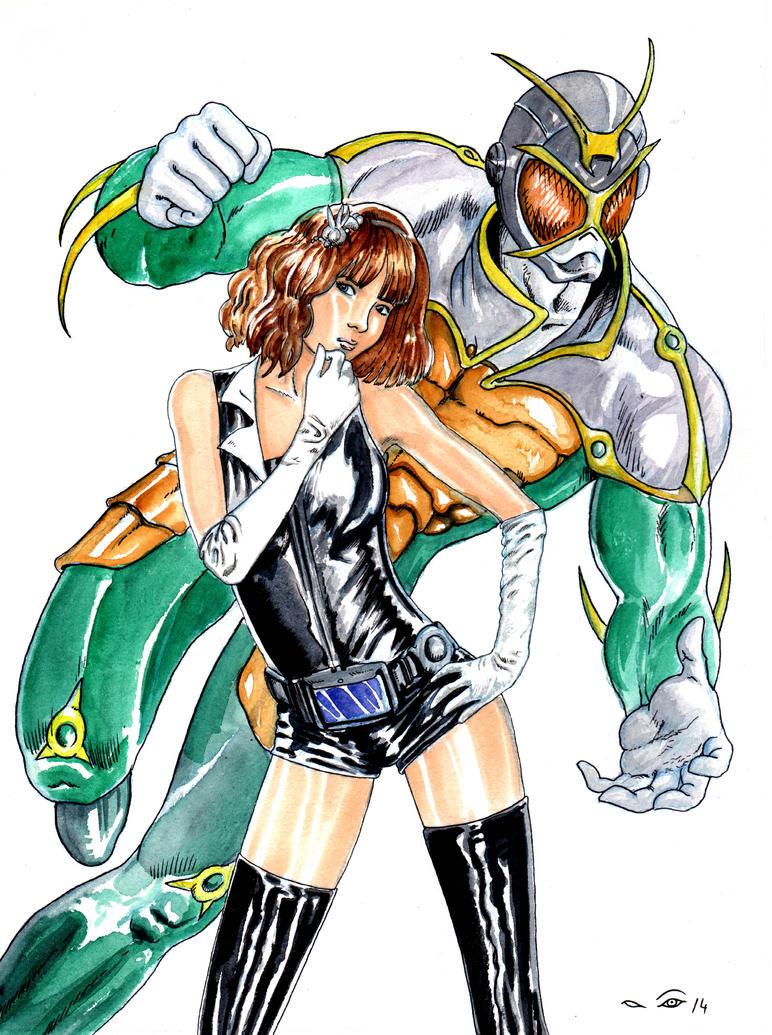 DND Paris : Kamen Rider by emalterre