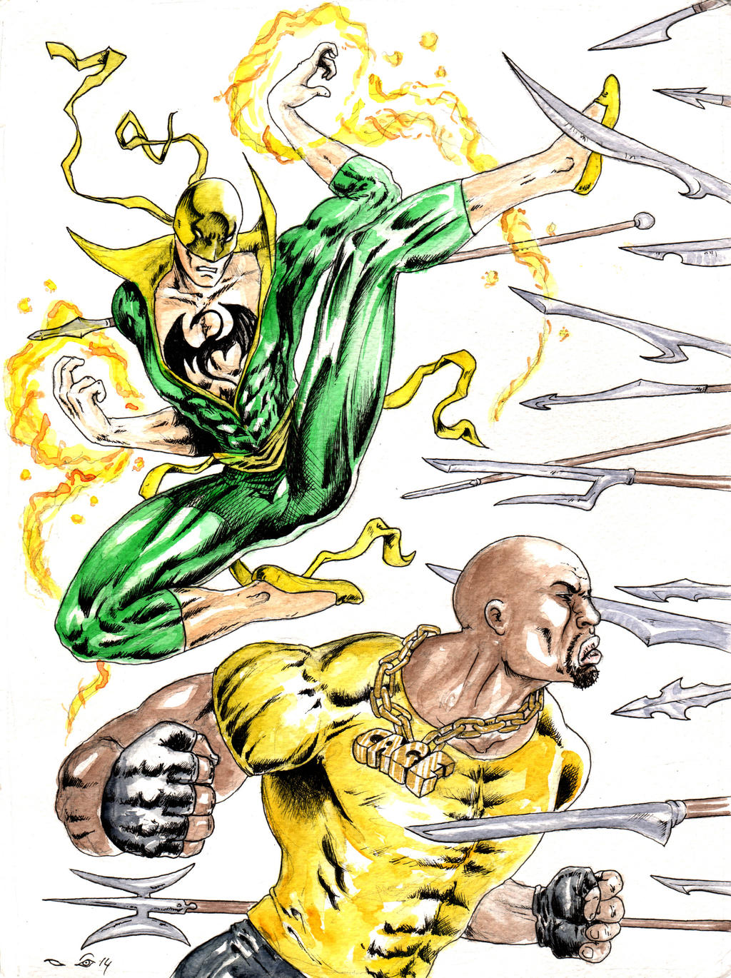 DND Paris : Iron Fist and Power Man by emalterre