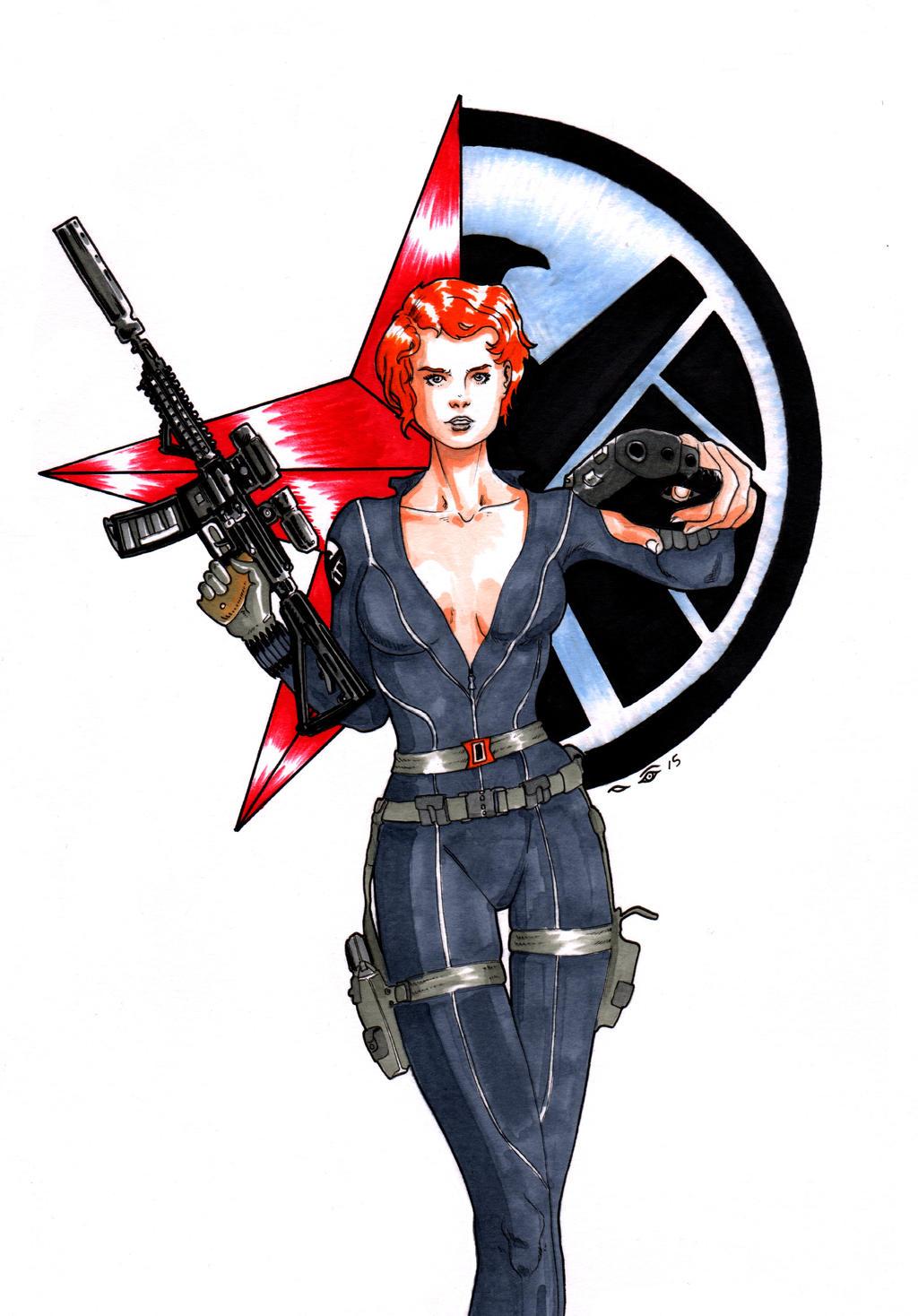 DND Paris : Black Widow by emalterre
