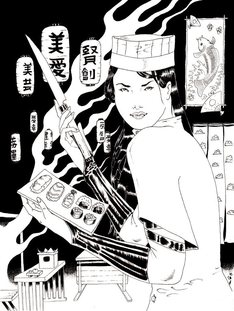 DND Paris : Psylocke Sushi Master by emalterre