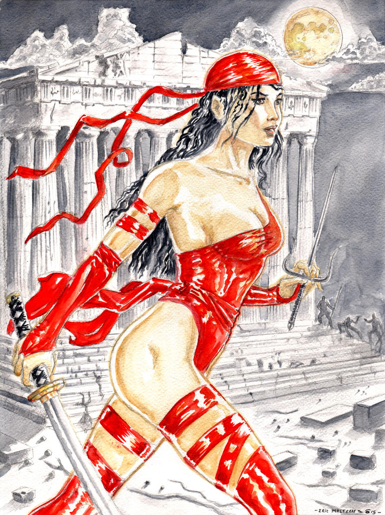 Elektra and Parthenon by emalterre