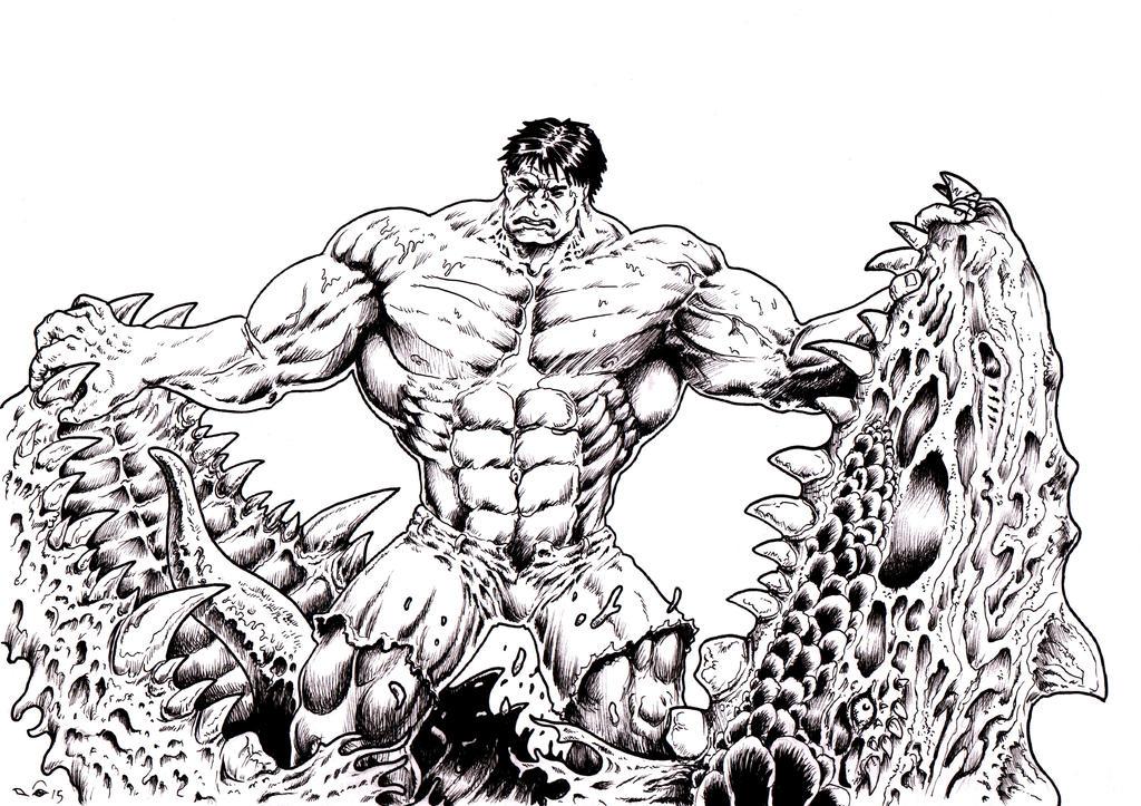 DNDParis : Hulk Vs Giant Lizard by emalterre