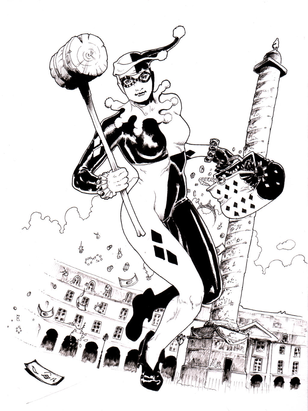 Harley Quinn at Place Vendome by emalterre