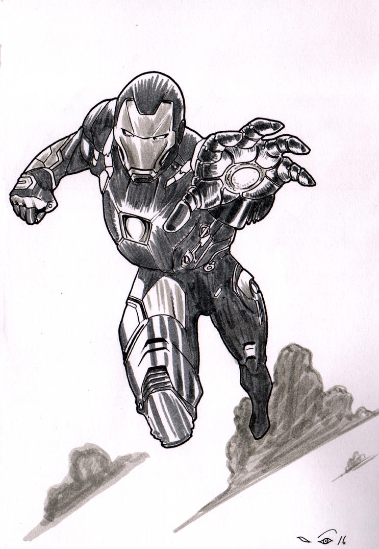IronMan flying by emalterre