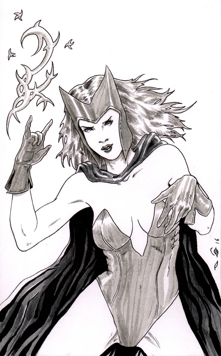 Scarlet Witch by emalterre