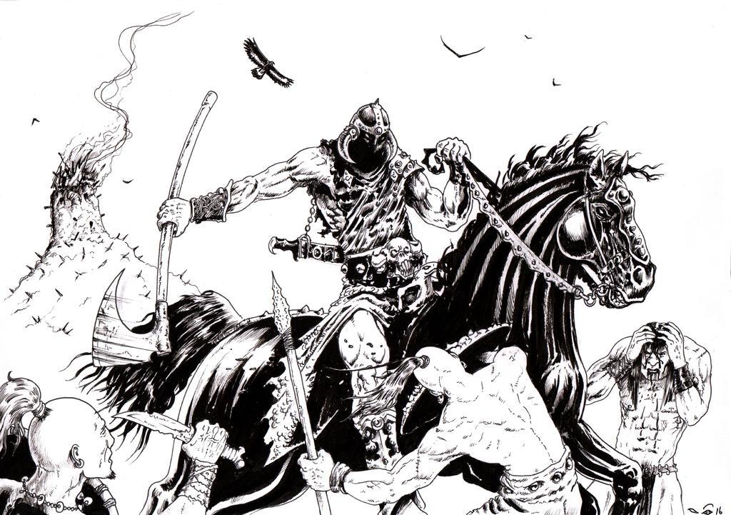 Death Dealer's Battle by emalterre