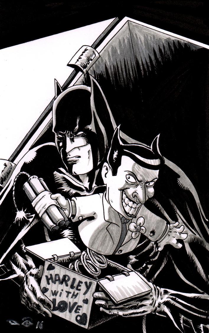 Batman and the Joker's box by emalterre