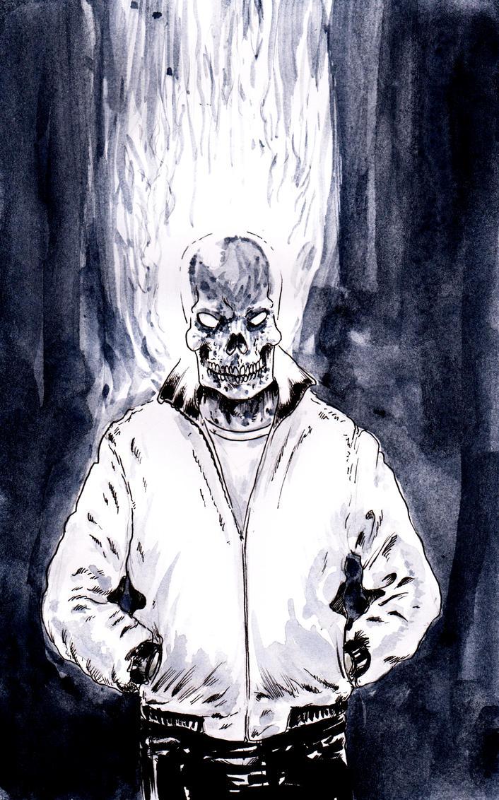 Burn Ghost Rider by emalterre