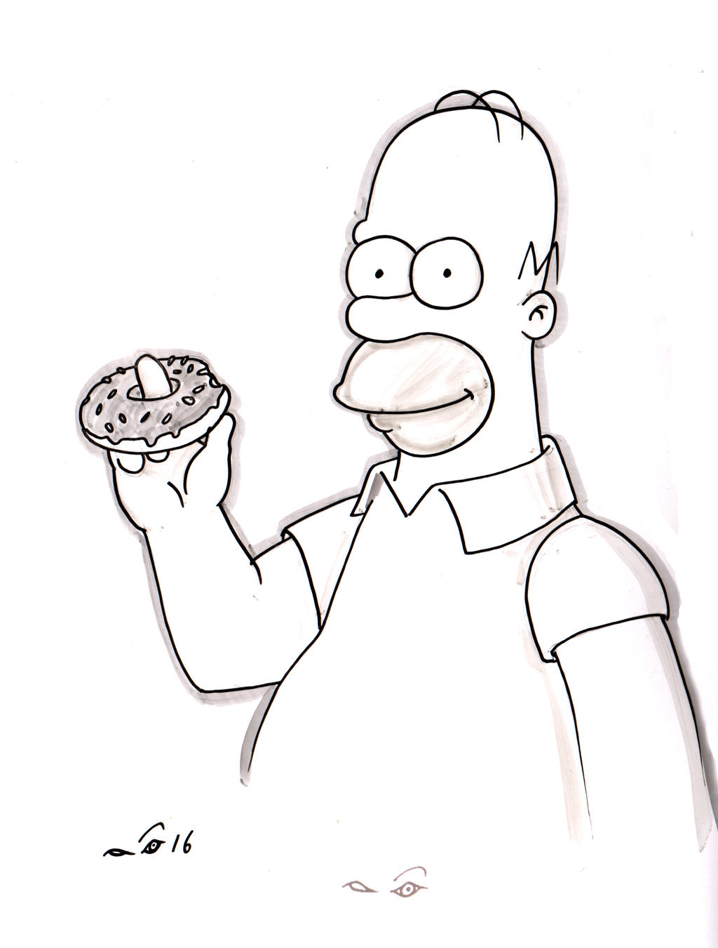 Homer and his donut by emalterre