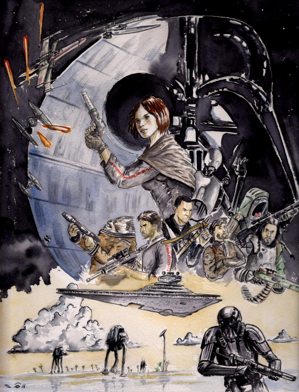Star Wars Rogue One by emalterre