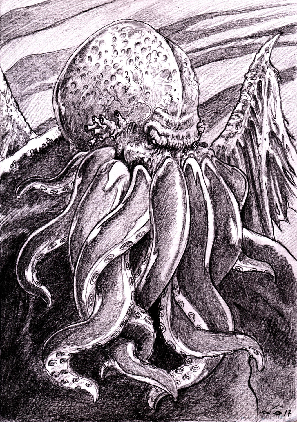 Great Cthulhu by emalterre
