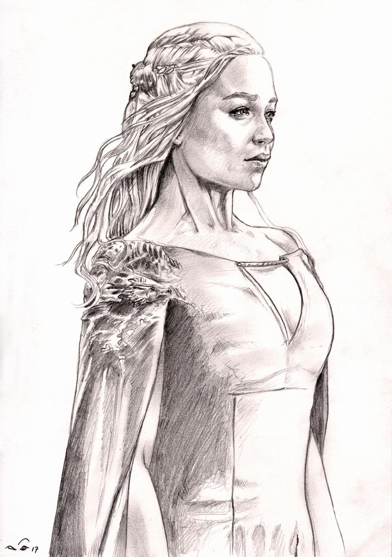 Emilia Clarke as Daenerys Targaryen by emalterre