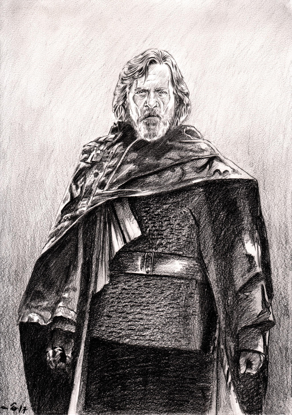 Mark Hamill as Luke Skywalker by emalterre