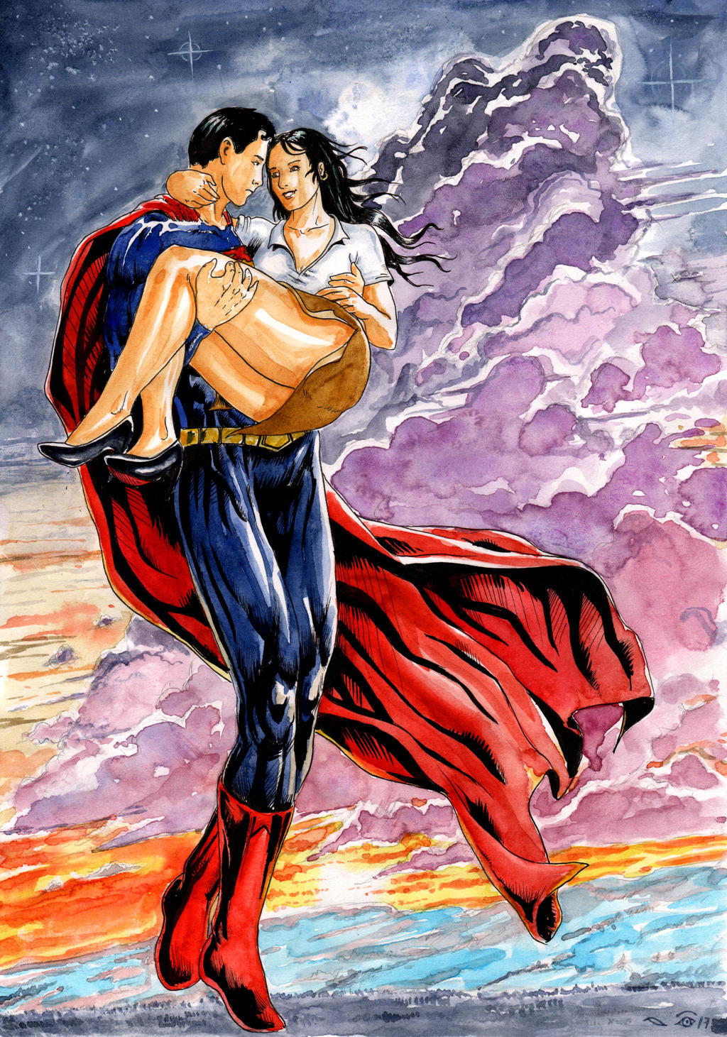 Superman and Lois by emalterre