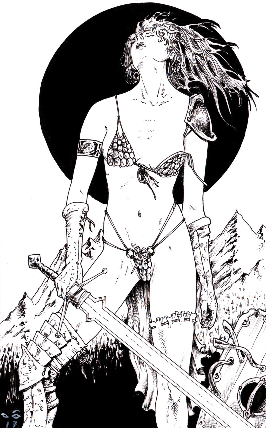Red Sonja's Sword by emalterre