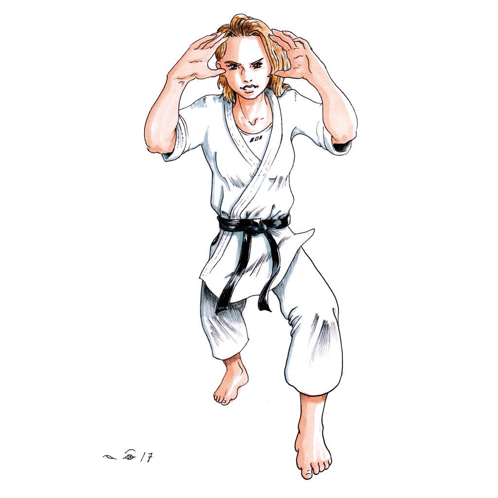 Karate Heian Yondan Atama Tsukami by emalterre