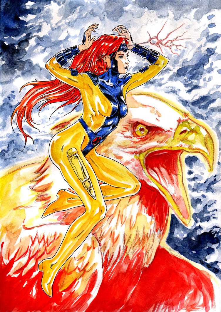 Jean Grey and The Phoenix by emalterre