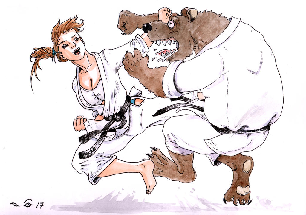 Karate Yoko Tobi Geri by emalterre