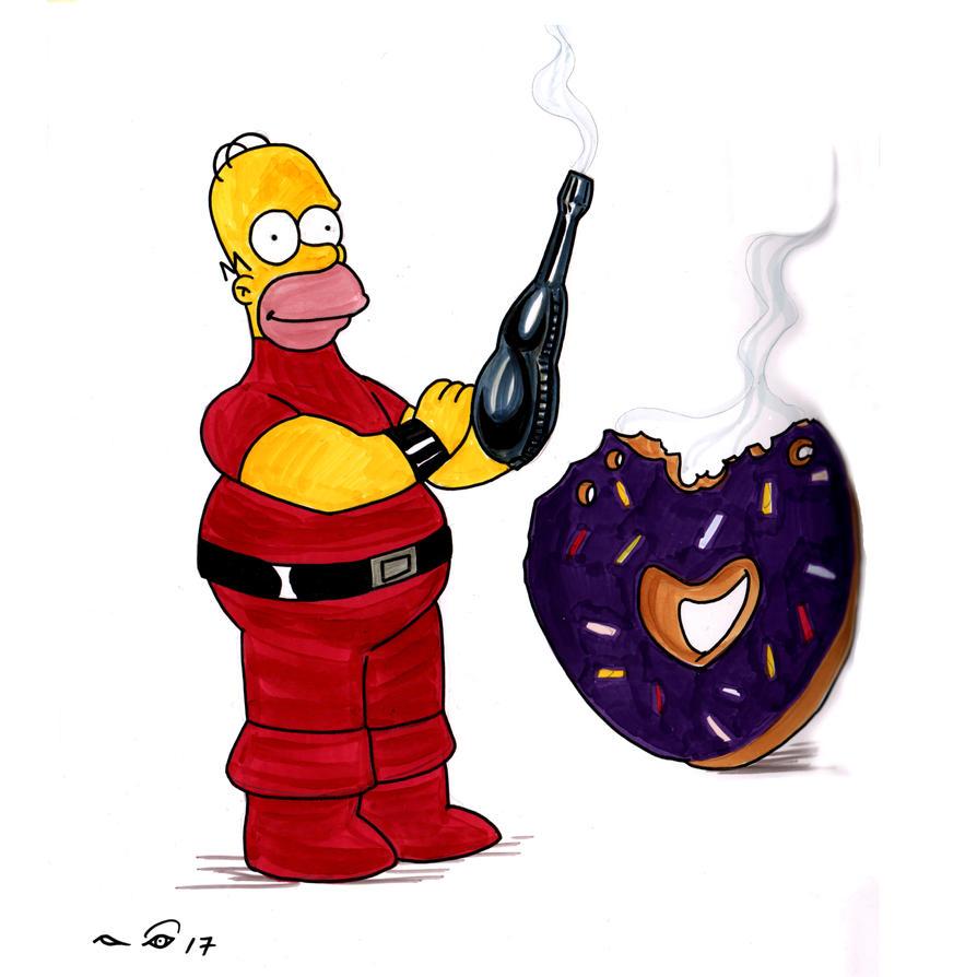 Homer Simpson Cobra by emalterre