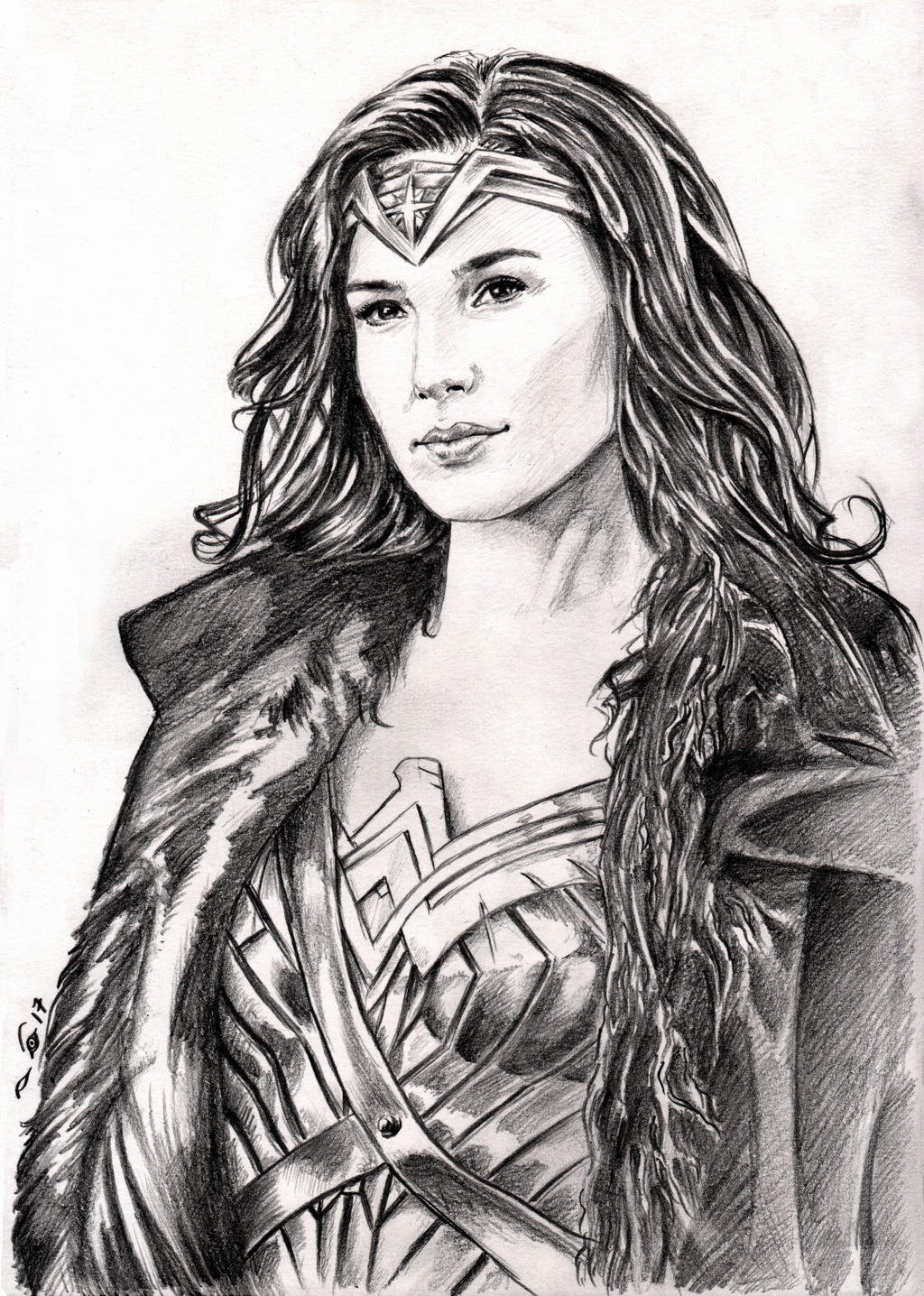 Gal Gadot as Wonder Woman by emalterre