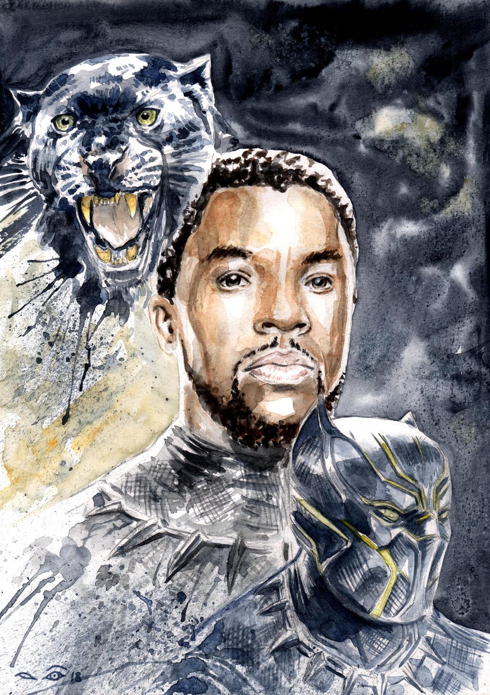 Black Panther Chadwick Boseman by emalterre