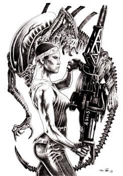 Jenette Vasquez and Alien