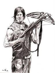 Norman Reedus as Daryl Dixon by emalterre