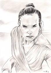 DaisyRidley as Rey SW IX by emalterre