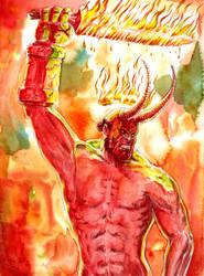 Hellboy's Sword by emalterre