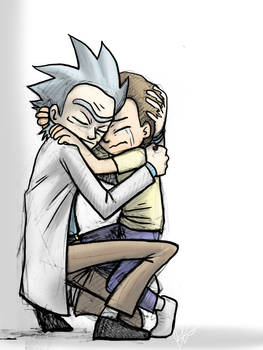 Rick and Morty Hug