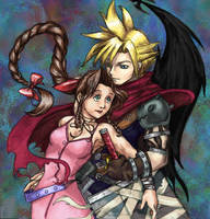 Cloud and Aerith by jameson9101322