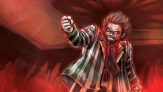 Beetelejuice Bjsr Comic Wallpaper Red