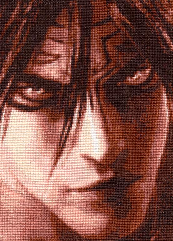 Devil Jin - Cross Stitch by shingorengeki