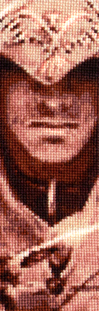 Connor Kenway - Cross Stitch bookmark by shingorengeki