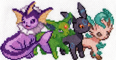 Shiny Pokemon - Cross Stitch Gift (WIP) by shingorengeki