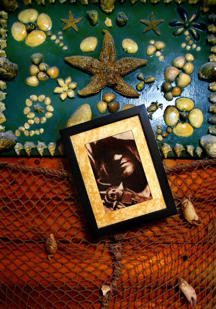 Edward Kenway - Cross Stitch Framed by shingorengeki