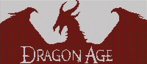 Dragon Age Logo Cross Stitch Pattern by shingorengeki