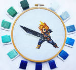Final Fantasy 7 Cloud - Cross Stitch