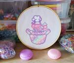 Galaxy Kirby - Cross Stitch by shingorengeki
