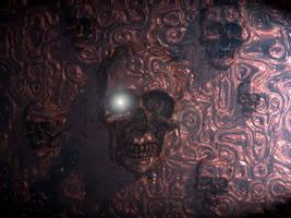 Multiskull in darkness