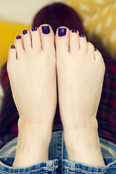 Kat (Set 4) - Toes and Purple Polish #10 by ILWF-LEGACY