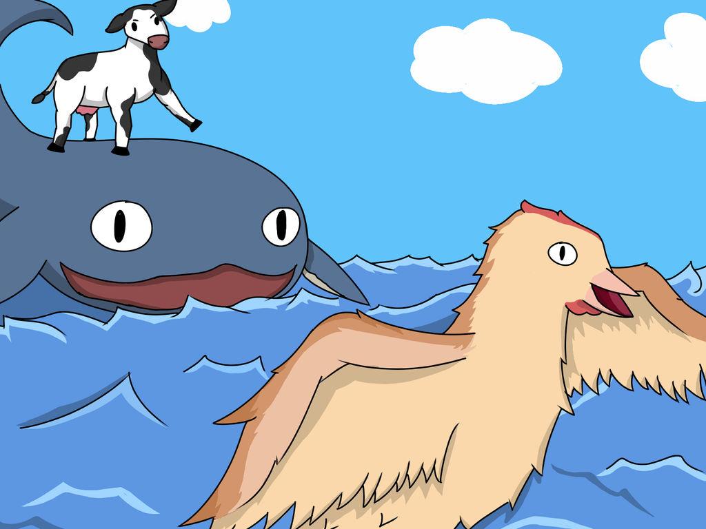 Cow Chicken Whale By Gravityskaters On Deviantart