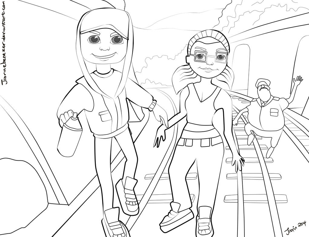 Subway Surfer Coloring Pages