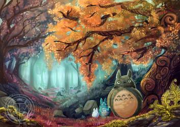 Totoro by CraftyMarten