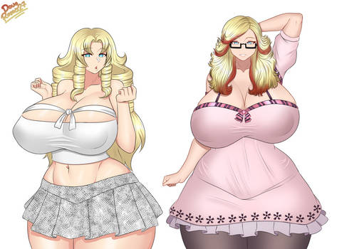OC Lana and Caelia Commission Hot Girls Out
