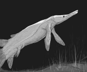 Rhynia: Riesenkriechhecht, the rhizodont crocodile