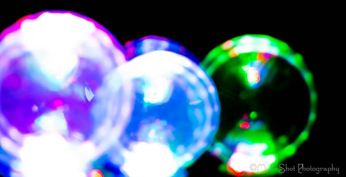 Glass Colored Bubbles