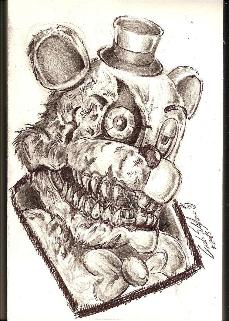 [FNAF4]Nightmare Freddy by SteveShadow